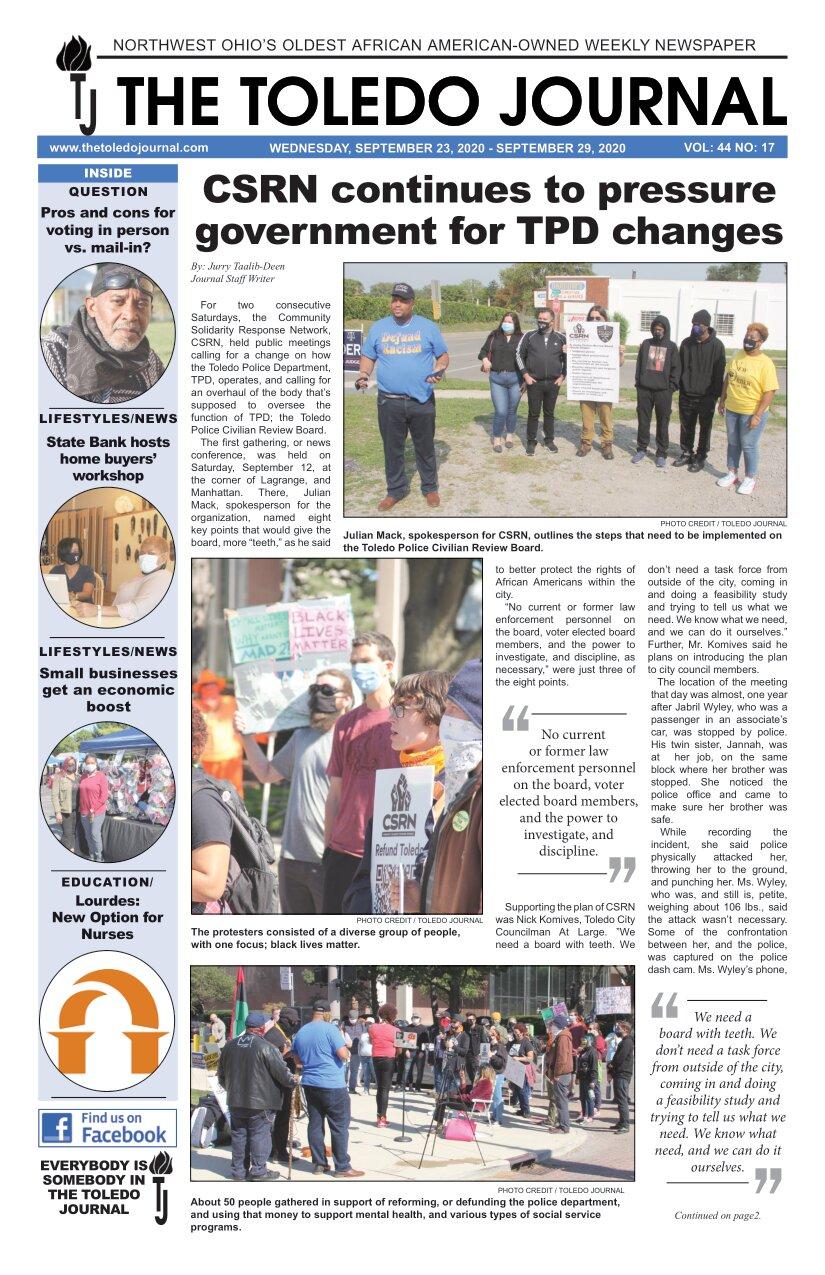 The Toledo Journal September 23, 2020